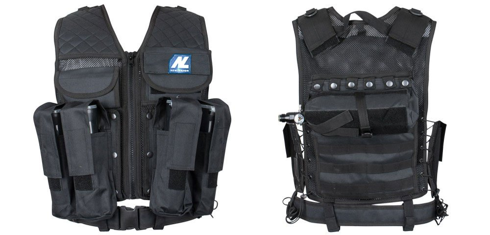 New Legion adultos Tactical Carrier Paintball Chaleco, Negro, M de XXL NEXER|#New Legion 700_15165-10