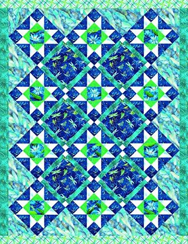 Dazzling Dragonflies Quilt Kit by Benartex Studios (Teal/Blue)