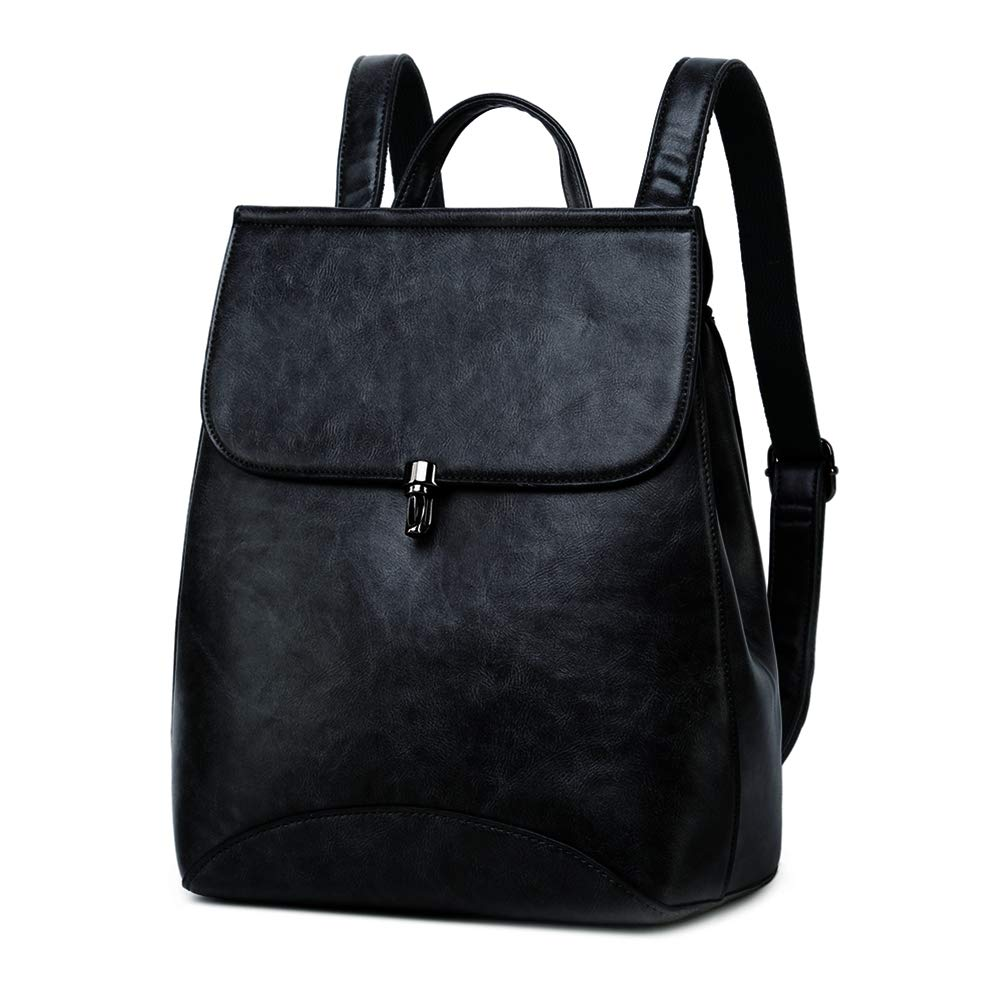 70e132ea0836b Amazon.com  WINK KANGAROO Fashion Shoulder Bag Rucksack PU Leather Women  Girls Ladies Backpack Travel bag (black 2)  Shoes
