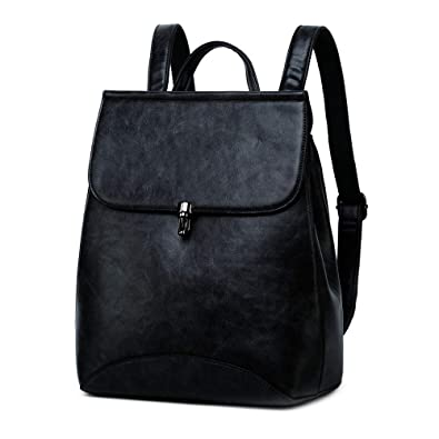 Amazon.com  WINK KANGAROO Fashion Shoulder Bag Rucksack PU Leather Women  Girls Ladies Backpack Travel bag (black 2)  Shoes 0b7fc5b29557d