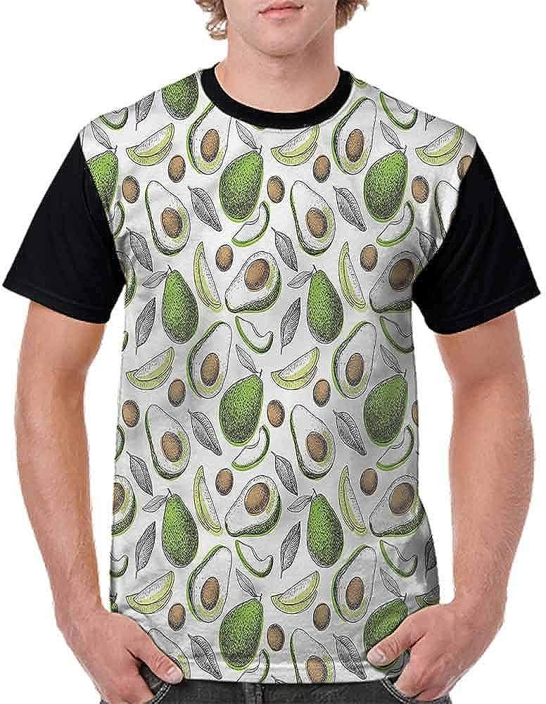BlountDecor Classic T-Shirt,Organic Avocado Leaves Fashion Personality Customization