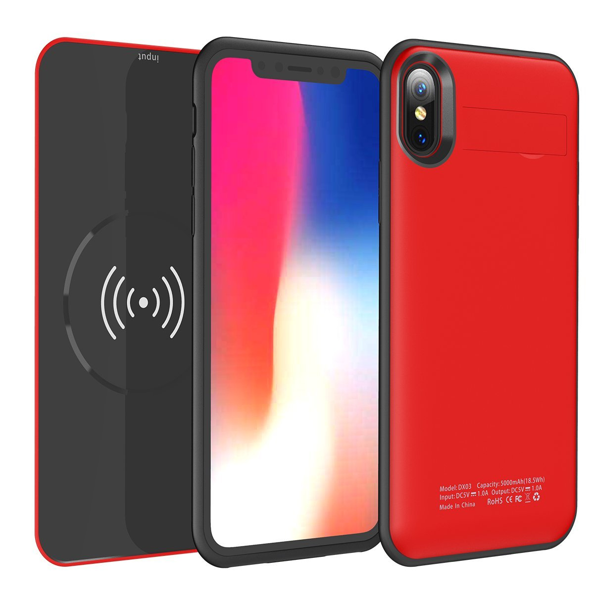 amazon com iphone x xs battery case with qi wireless charging 2 rh amazon com