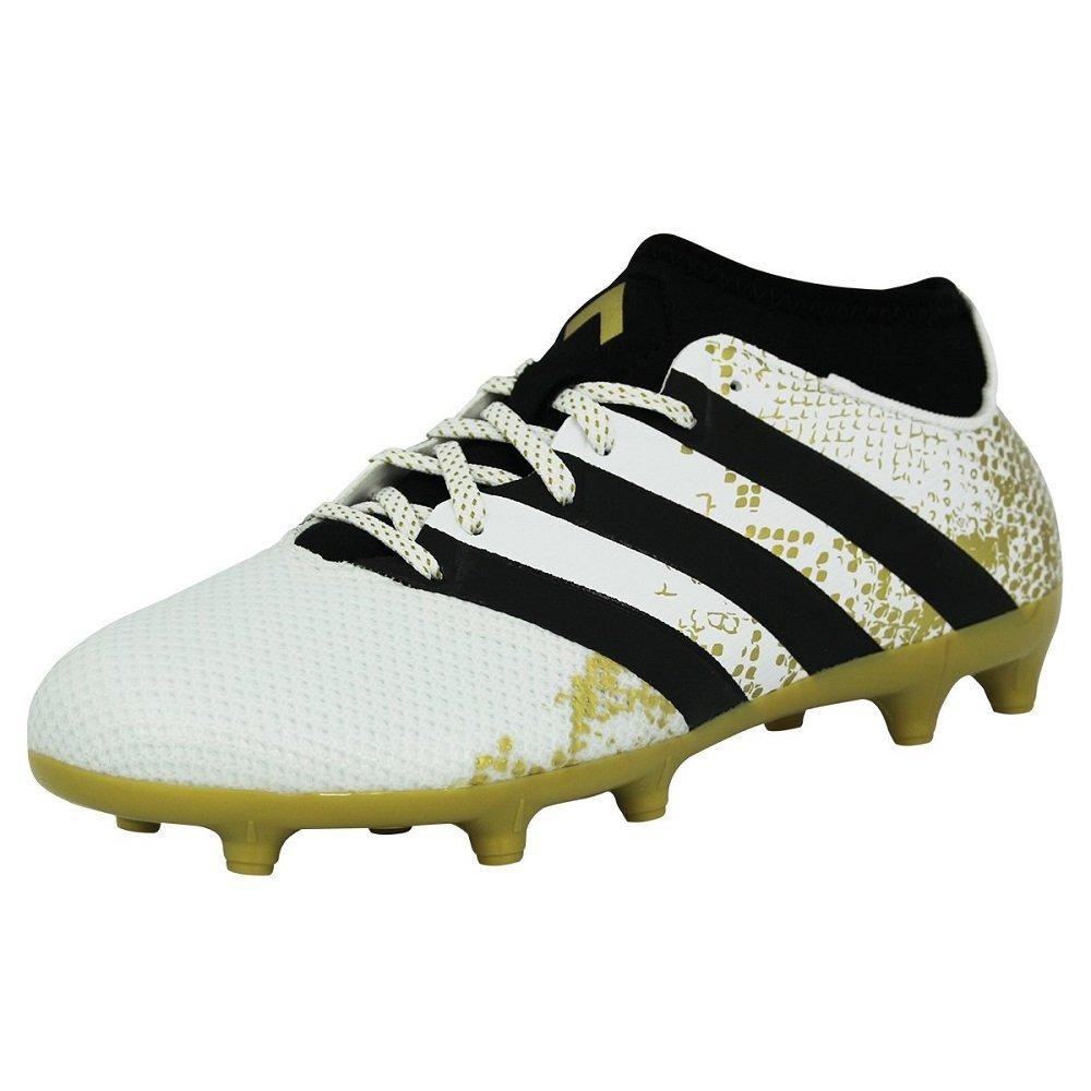 adidas Herren Ace 16.3 Primemesh FG/AG Fuszlig;ballschuhe  47 1/3 EU|Wei? (Ftwr White/Gold Metallic/Core Black)