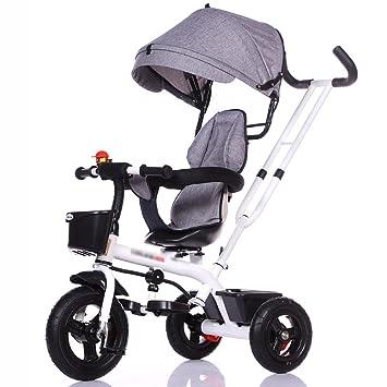 Triciclos WSSF- Bicicleta de 3 Ruedas bebé con empuñadura para Padres 1-3-