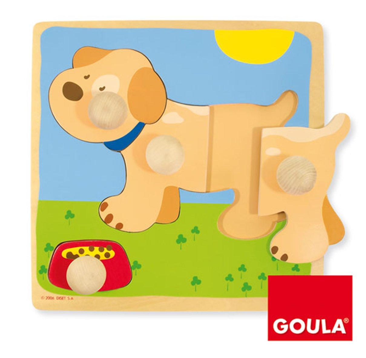 Goula Puzzle perro piezas de madera Diset