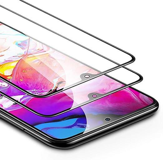 ESR Protector de Pantalla para Samsung Galaxy A70 [2 Unidades] 2.5D Cristal Templado Screen Protector [Cobertura Pantalla Completa] Compatible con Samsung A70 (2019): Amazon.es: Electrónica