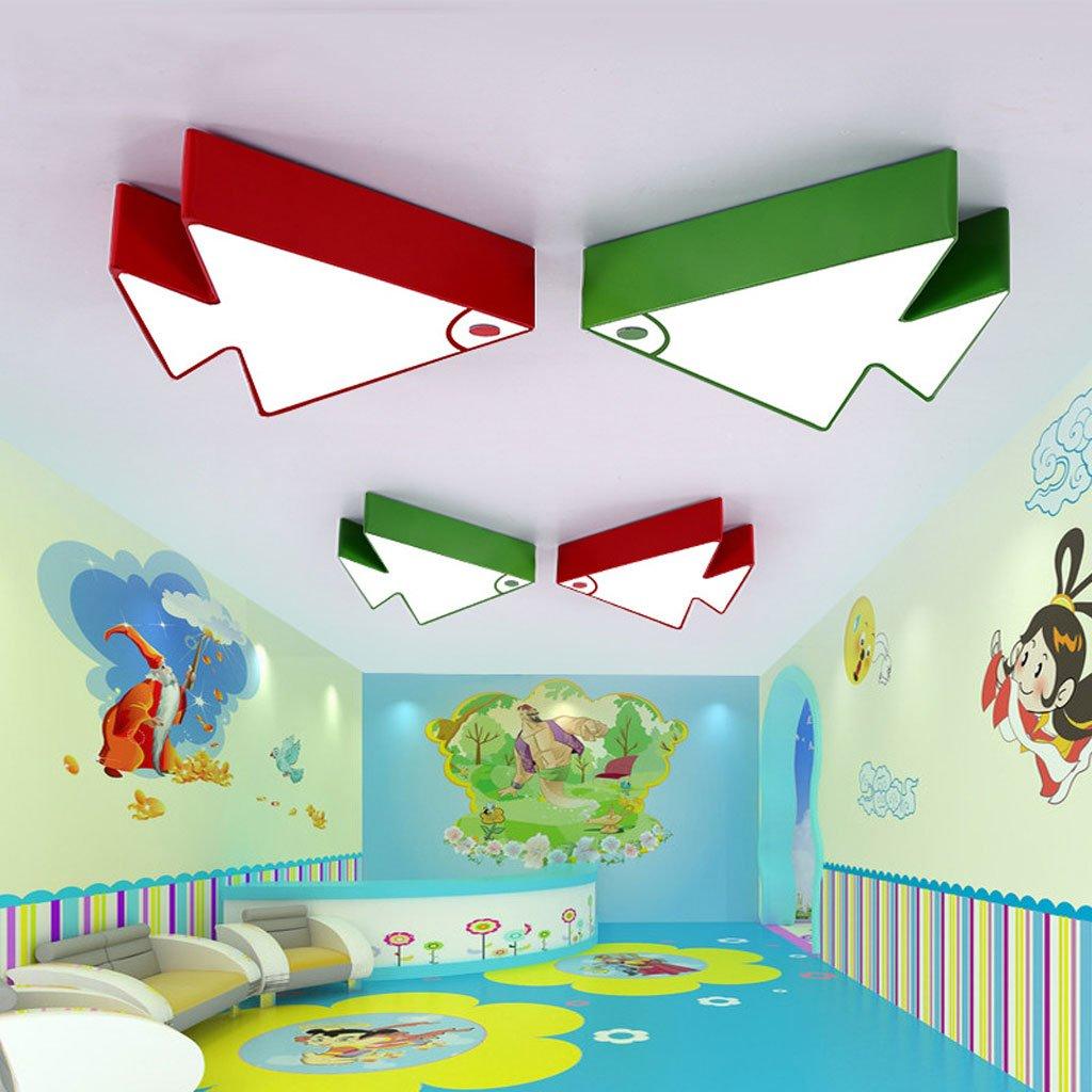天井の光トロピカルフィッシュの子供の寝室の少女現代の漫画の部屋の幼稚園教室の照明 ( Color : Red , Size : B ) B07BRL3359 B|Red Red B
