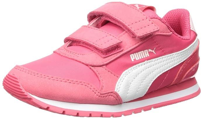 PUMA Unisex ST Runner NL Velcro Kids Sneaker, Paradise Pink White, 1 M US Little