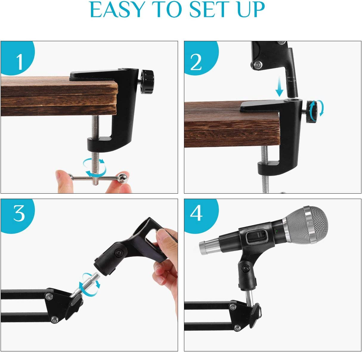 """gaixample.org 3/8"""" to 5/8"""" Adapter Mic Clip Snowball and Other ..."""