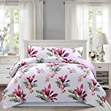 SUSYBAO 3 Pieces Duvet Cover Set 100% Co...