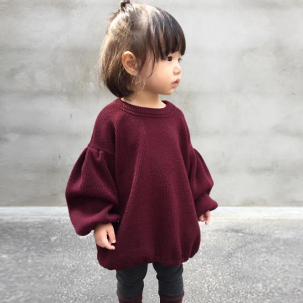 ropa bebe niña invierno Switchali ropa recien nacido niña otoño moderna 2017 manga larga Camisetas blusas casual sudadera niña Manga de la linterna abrigo ...