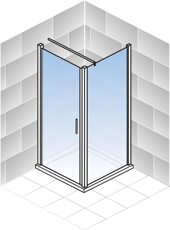 Profile in alu grau 5 mm Sicherheitsglas transparent 90 x 80 cm 190 cm Duschkabine Dreht/ür Seitenwand Bremen der Renovierungsprofi