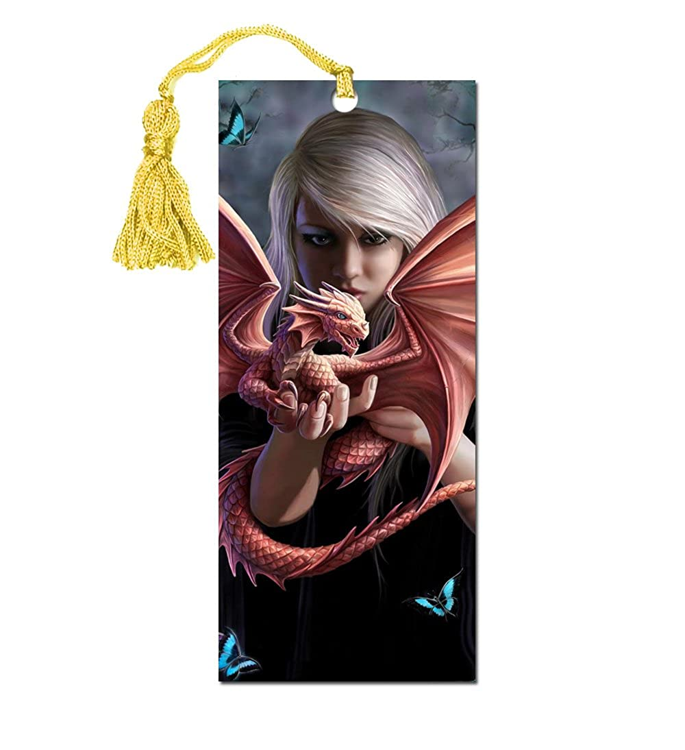 ANNE STOKES 3D Bookmark Gothic Fantasy Fairy Angel 'Dragon Kin' #17 Official Licensed Merchandise