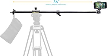 Glide Gear OH 50 DSLR Camera / iPhone Photo Video Overhead Heavy Duty Metal Mount Stand Adjustable 36