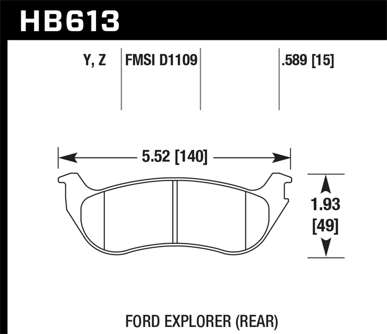 Hawk Performance HB613Y.589 LTS Brake Pad