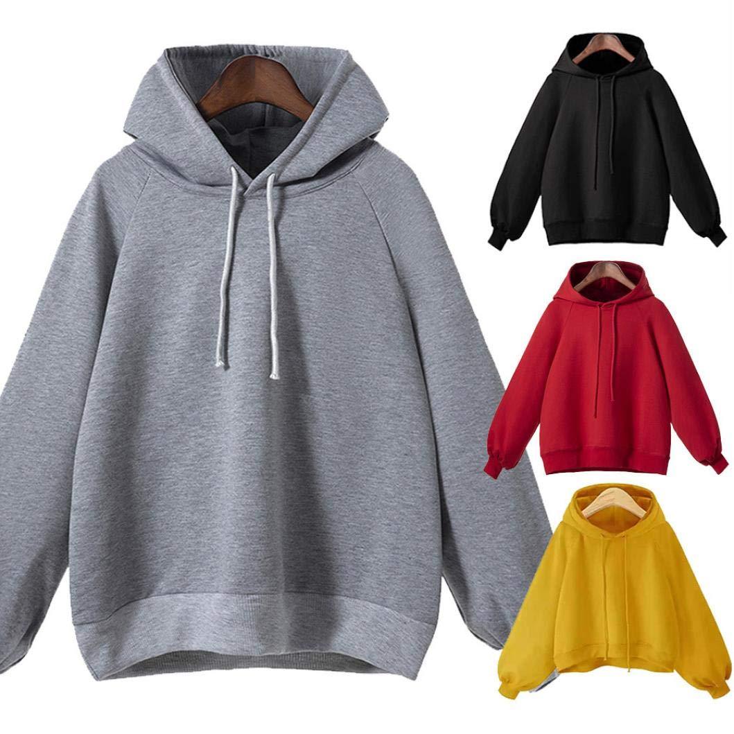 Dasongff Damen Pullover Schwarz Cropped Kapuzenpullover Damen Lang  Kapuzenpulli Sweatshirts Hoodie Frauen Oversize  Amazon.de  Bekleidung 45c372c5ce