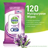 Dettol Multipurpose Antibacterial Disinfectant Surface Cleaning Wipes Lavender 120pk