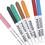 フードペン 7色セット (黒、赤、オレンジ、ピンク、茶、緑、青)