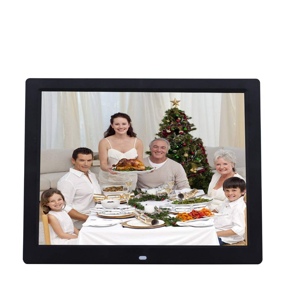 TONGTONG Digital Photo Frame,14 inch High Resolution Full IPS Photo/Music/Video Player Calendar Alarm Auto On/Off Timer Unique UI Design with Remote Control