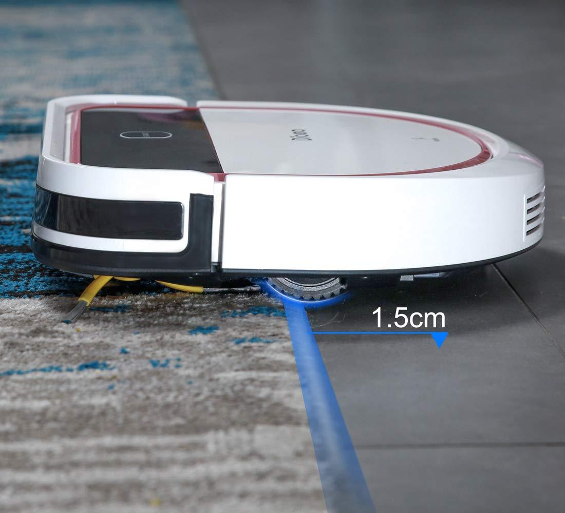 Amazon.com: Dibea Robotic Aspiradora 2 en 1 Aspiración y ...