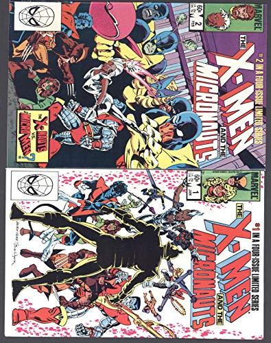 X-Men & The Micronauts #1-4 NM Complete Set Full Run Marvel Comics 1984 CBX100