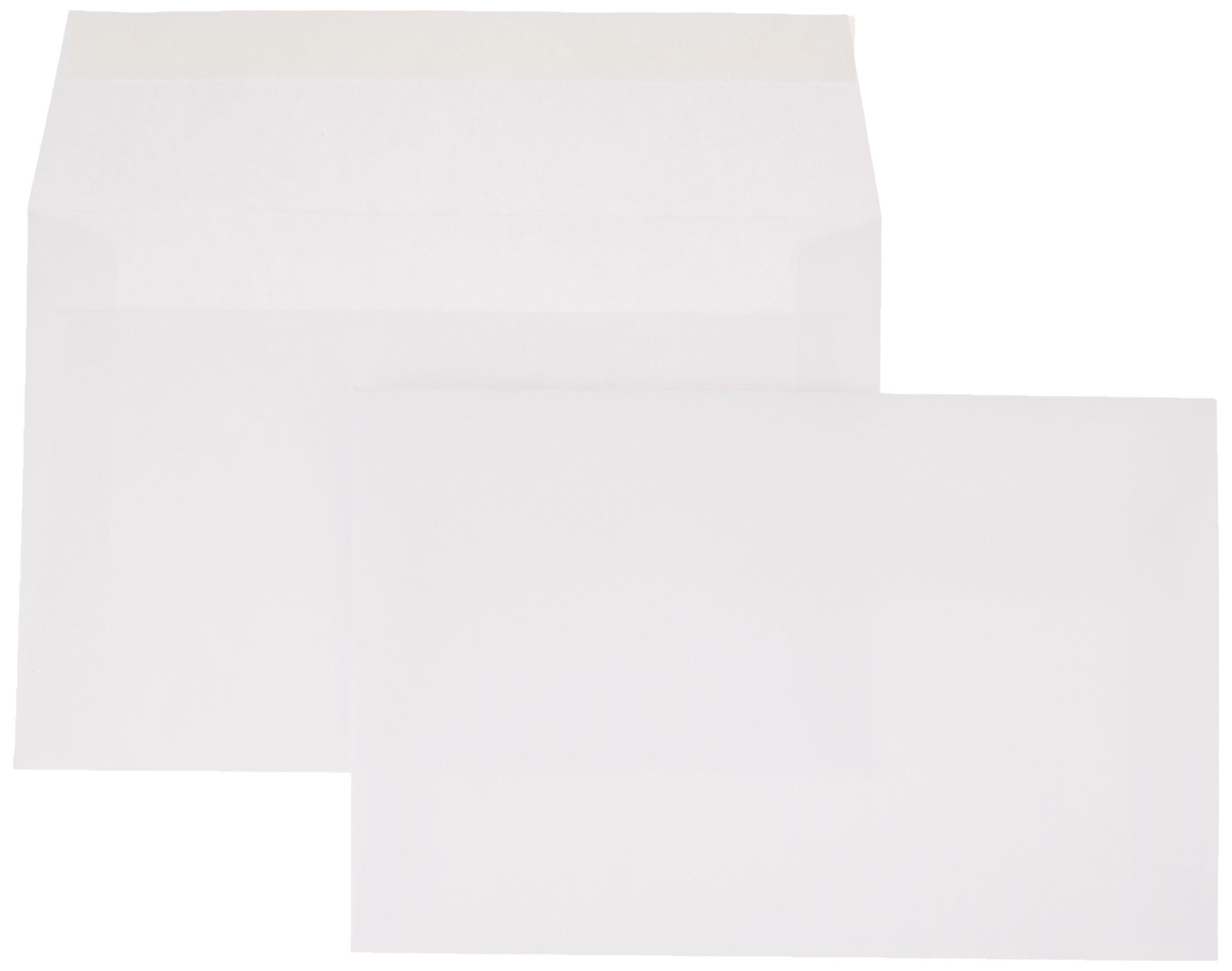 AmazonBasics A9 Invitation Envelope, Peel & Seal, White, 100-Pack (5-3/4 x 8-3/4 inches)