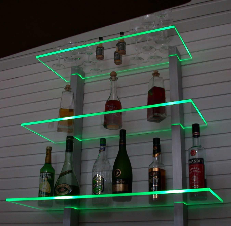 Diseño Bar Estantería LED Ideal Botellas y Vasos RGB versión
