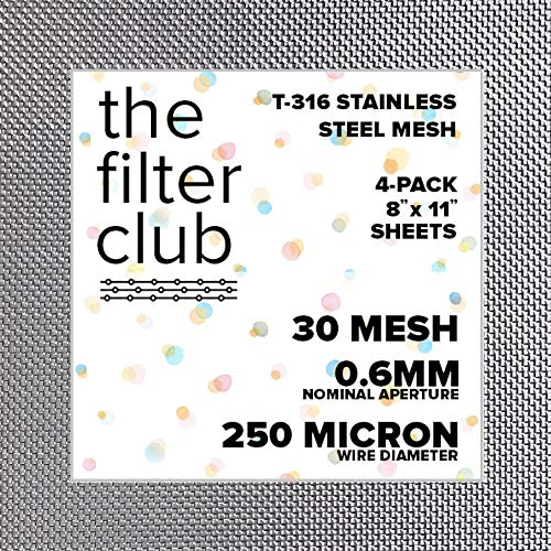30 Mesh | T-316 Stainless Steel Woven Wire Mesh | 8