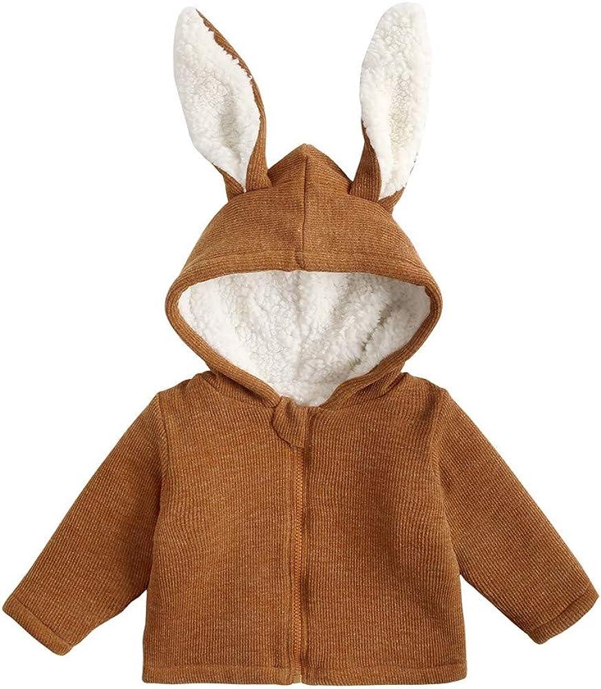 FeiliandaJJ Baby M/ädchen Jacke Winter Fleecefutter Mit Kapuze Super weich Mantel Hasen Ohren Warme Kleidung Baby Coat Girl 80-140CM