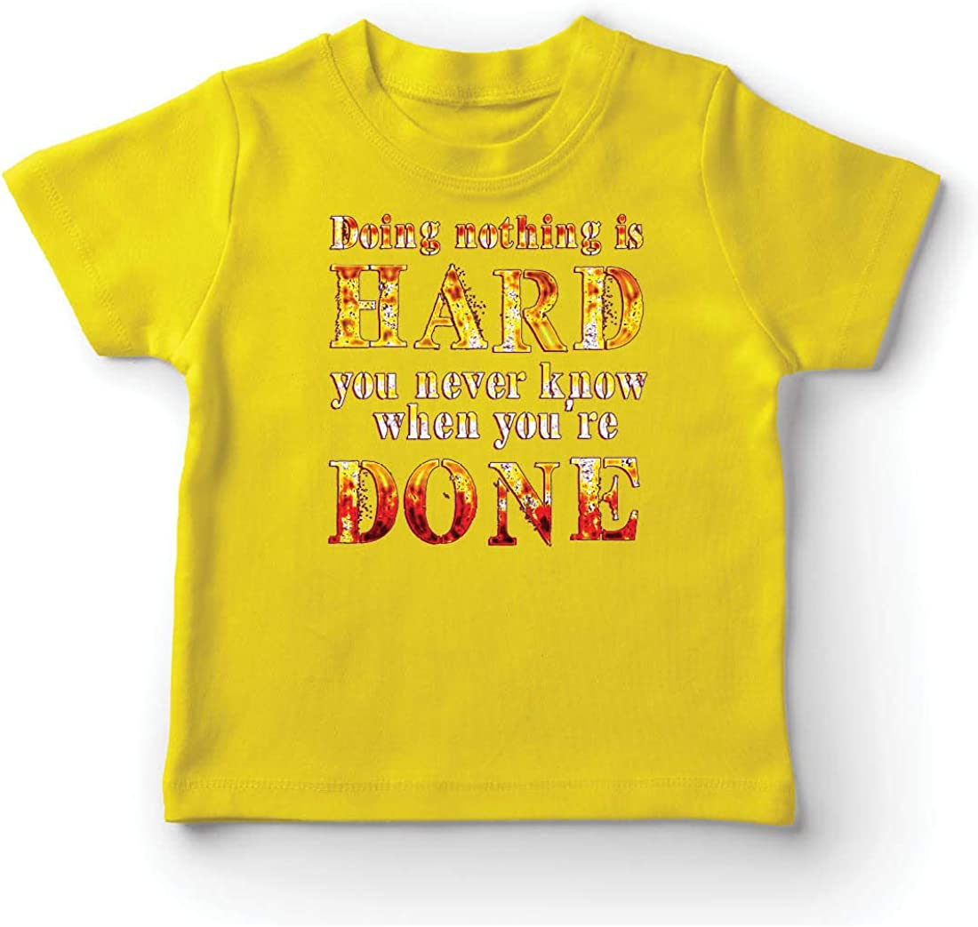 lepni.me Camiseta para Niño/Niña No Hacer Nada es Difícil, Cita Graciosa, Decir Perezoso: Amazon.es: Ropa y accesorios