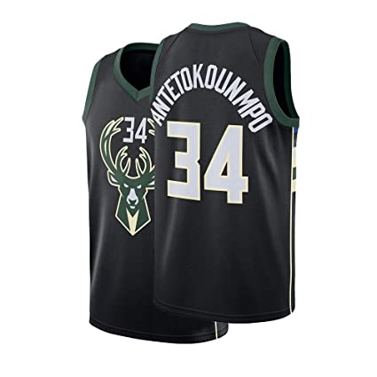 new style 38272 5a062 Fysasf Youth Milwaukee Antetokounmpo Jersey 34 Kids Basketball Boys Giannis