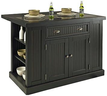 Amazon.com: Home Styles 5022 94 Nantucket Kitchen Island, Distressed White  Finish: Kitchen U0026 Dining