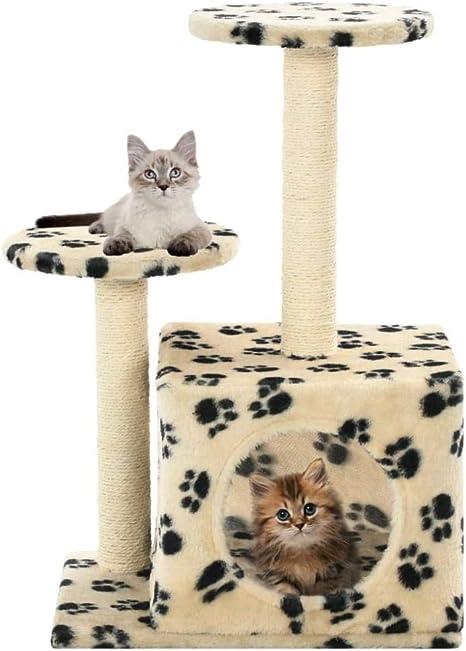 Árbol Rascador para Gatos 60 cm Rasguños de gato Árbol de ...