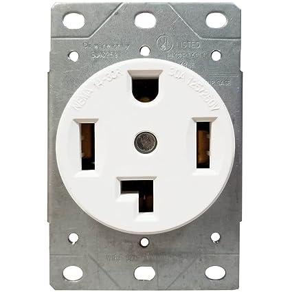 amazon com enerlites 30 amp electrical dryer outlet nema 14 30renerlites 30 amp electrical dryer outlet nema 14 30r, outdoor indoor,