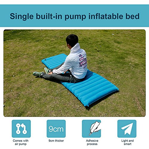 Sleeping Pad for Camping, Hiking Fast Inflatable Lightweight, with Built in Pump and Carry Bag