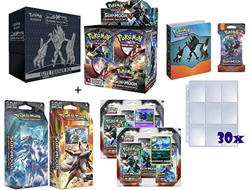 Pokemon TCG: Sun & Moon Burning Shadows Ultimate Collectors Set Plus Premium Ace Syndicate Gifts Including a Mini Binder, Booster Pack & 30x9 Pocket Card Collector Pages