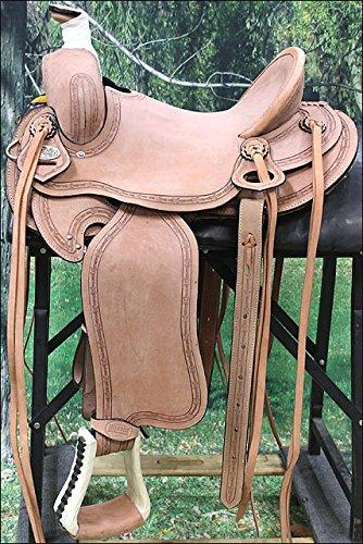 Hilason Big King Western Leather Wade Ranch Roping Cowboy Horse Saddle