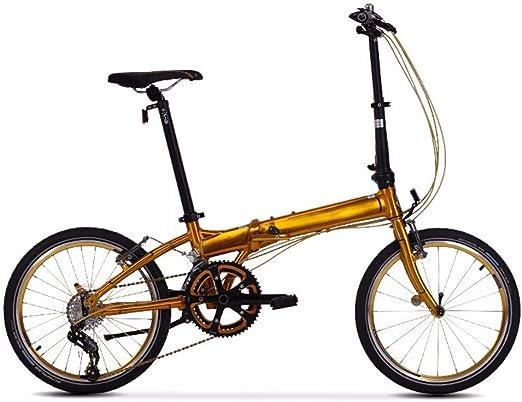 XiXia X Bicicleta Plegable para Adultos, aleación de Aluminio ...