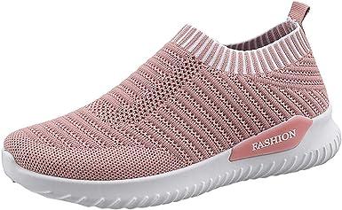 YUTING Calzado Zapatos Deportivos Casual Zapatillas de Running para Mujer Transpirable Sports Zapatillas para Athletic Sports Sneakers Calcetines Zapatos Planos: Amazon.es: Ropa y accesorios
