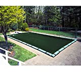 18'x36' Supreme Rectangle In-ground Swimming Pool Winter Cover 12 Year w/Wate...