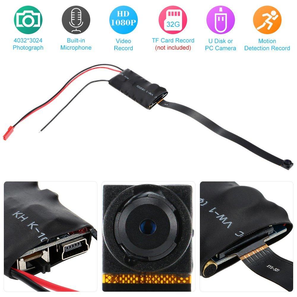 60%OFF KKmoon Mini Cámara de Vigilancia Full HD 1080P 12MP CCTV DVR ...