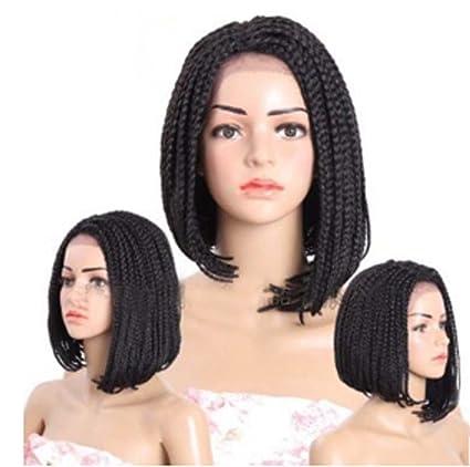 TOUFA Peluca de Las Mujeres Negras Peluca sintética Natural rizada del Negro del Estilo de la