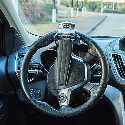 Blueshyhall Car Steering Wheel Lock,Anti-Theft Locking Devices for Auto Car Vehicle Truck SUV,Black: Automotive