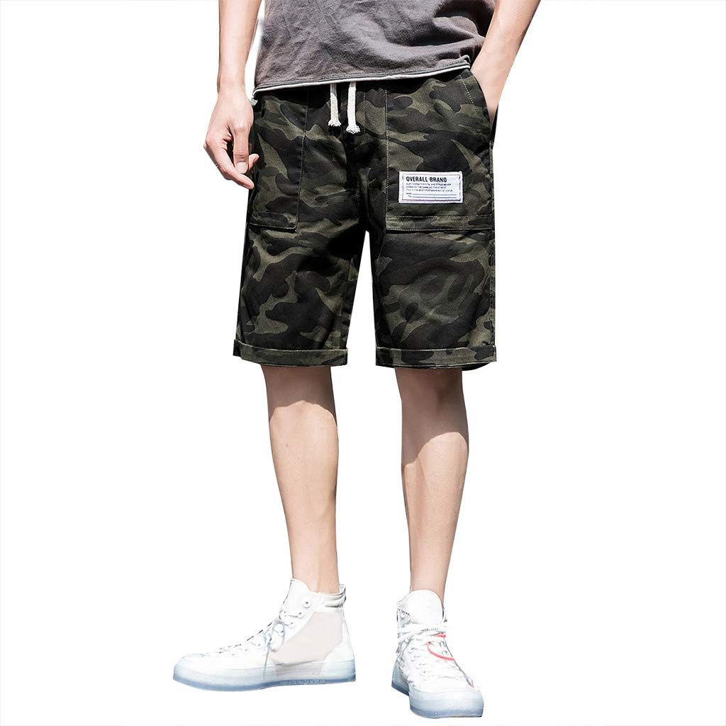 ZOMUSAR Men's Summer Leisure Camouflage Overalls Fashion Multi-Pocket Trousers by ZOMUSAR