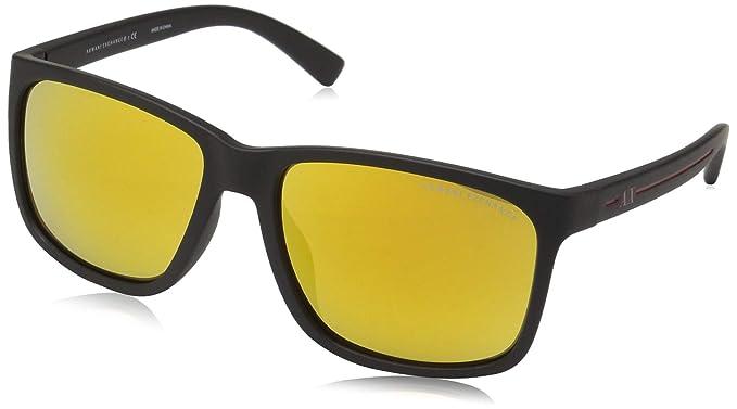 8d866b86a66 Amazon.com  Armani Exchange 0ax4041sf Square Sunglasses matte black ...