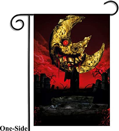 Amazon Com Halloween Garden Flag Scary One Sided Bloody Night