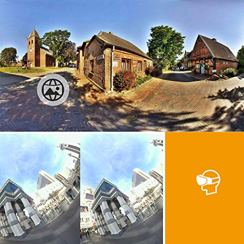 Dovewill Dual 210° Fisheye Lens HD VR Camera for Android Phone Live Seamless Stitching Pink by Dovewill (Image #4)