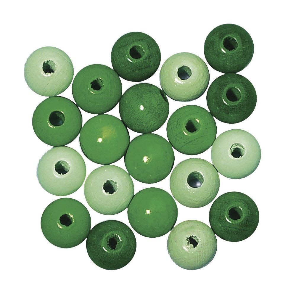 poliert SB-Btl 32 St/ück Rayher 1253400 Holz Perlen FSC 100 /% blau T/öne lutsch- und speichelfest 12 mm /ø