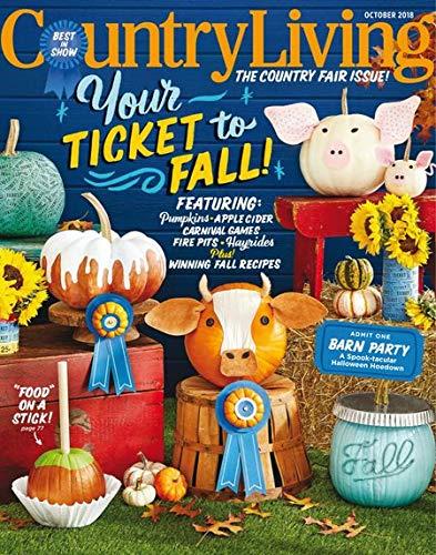 (Country Living Magazine Issue: October 2018 + Magazine Cafe Bookmark)
