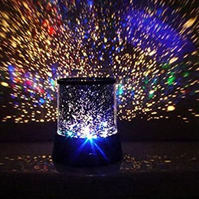 Ostart LED Projector Lamp Night Light Romantic Colourful Cosmos Star For Christmas Light